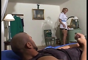 Antonia Deona Maid Drilled In Fishnets