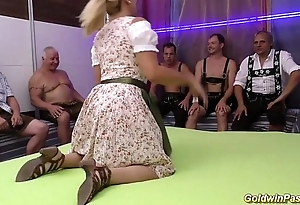 stepmom gets fisted in advance gangbang orgy