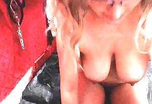 grown up babe Wipe the floor with hairy Armpits and Cum-hole