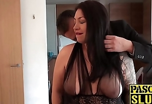 Chubby cock loving slut Nikki enjoys getting screwed hard