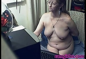Lovely Granny with Glasses Unorthodox Web camera Porn Mobile