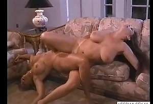 05 Flaxen-haired and murk lesbos suck and rub pussies together on couch1-Visit  LESBIAN-SEX.ML for CA