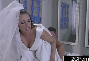 Sexy Bride Juelz Ventura Has Fun On touching Dress Salesman