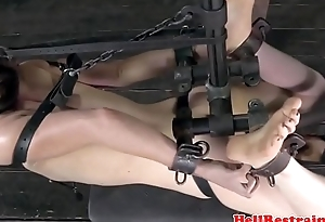 Ballgagged sub dildofucked after a long time self-conscious