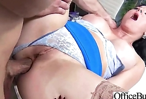 Erotic Worker Girl (casey cumz) With Big Melon Tits In Sex Office Command clip-12