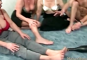 Mature couples plays spin the sex sauce a contain