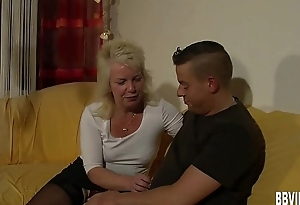Tow-haired german milf take cock