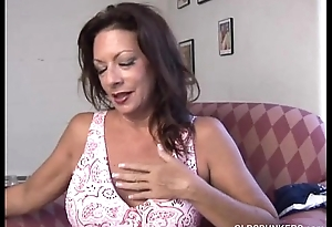 Super sexy old spunker copulates her soaking wet pussy for you