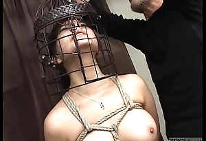 Subtitled Japanese CMNF BDSM parfum hook bird cage play