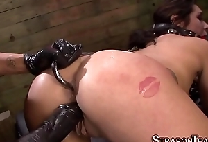 Anal hooked tied sub mad about