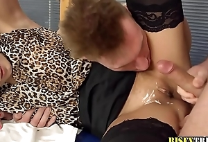 Ho jizzed by bisex agree to