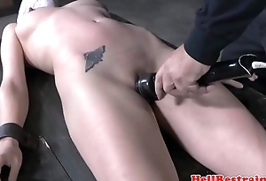 Gagged submissive punished beyond everything a sybian