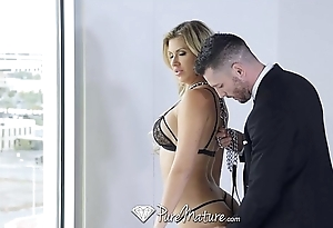 PureMature - Couple play with a misdirect around MILF Savana Styles mantle