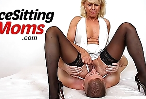 Euro milf Dita face seated increased by pussy eating