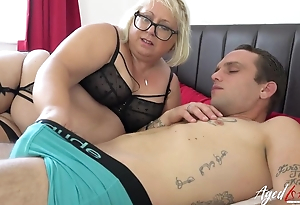 Big full-grown bitch with pierced love tunnel blows younger impoverish