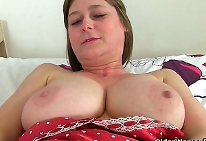 British milfs Diana and April be included hot in fishnet In US breeks
