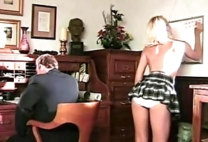 Cram delights with tow-headed student, queen of deep and delicious