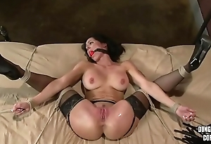 Kendra Lust tied and drilled 1