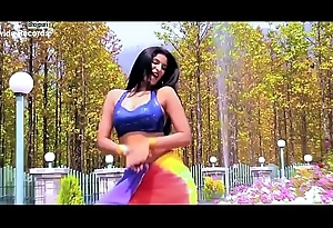Dispirited Bhojpuri allied - big-busted moves on touching bgrade dance by Indian babe